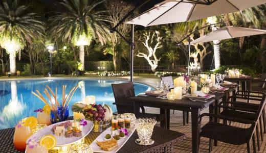 SNS映え抜群のナイトプールを貸切って披露宴🥂✨ナイトプールウェデイングプラン「Splash&Sparkle」