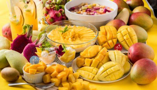 スイパラで「マンゴー」食べ放題💕ペリカンマンゴーやドラゴンフルーツなどの南国フルーツが登場